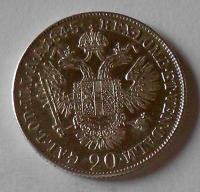 Rakousko 20 Krejcar 1845 A Ferdinand V. pěkný