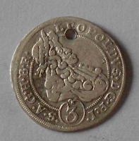 Slezsko – Břeh 3 Krejcar 1698 Leopold I. dirka