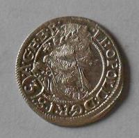 Slezsko – Vratislav 3 Krejcar 1669 Leopold I. stav