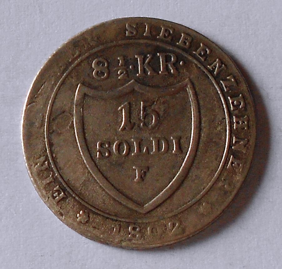 Tyroly 15 Soldi 1802 F František II.