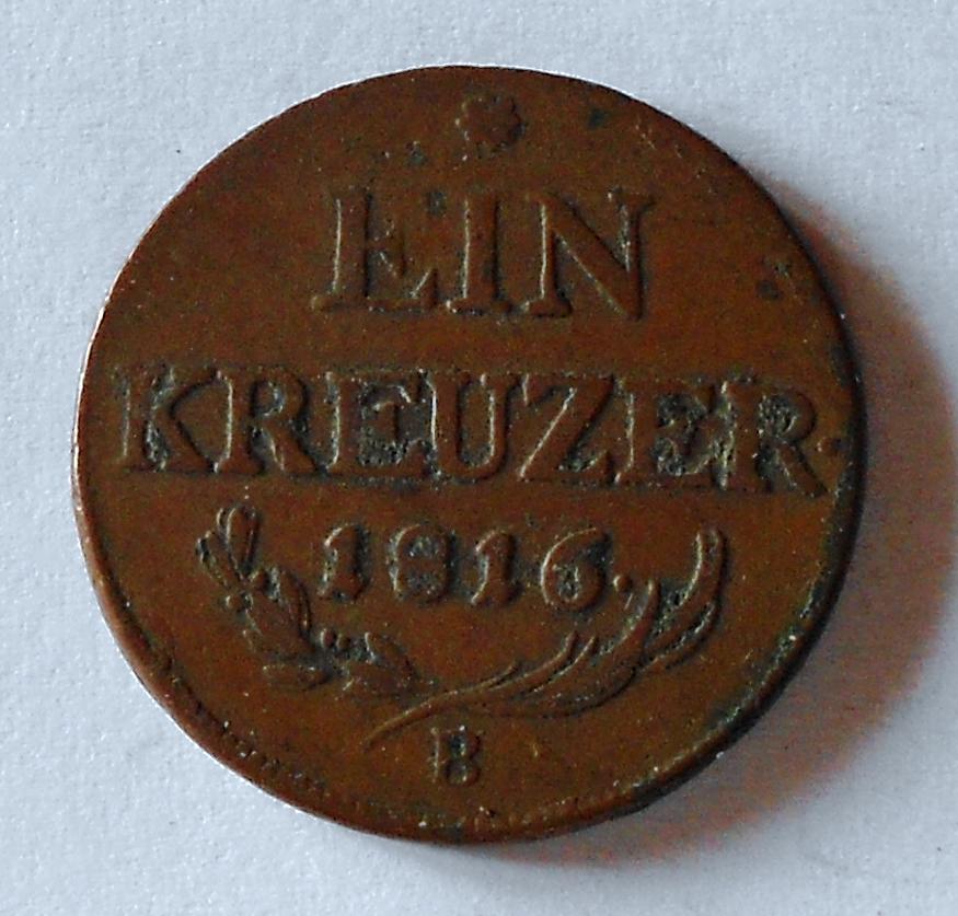 Uhry 1 Krejcar 1816 B František II.