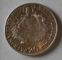 Uhry 20 Krejcar 1839 B Ferdinand V.