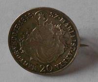 Uhry 20 Krejcar 1848 KB Ferdinand II. spona