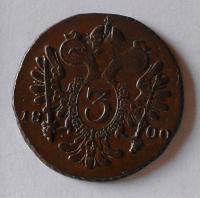 Uhry 3 Krejcar 1800 S František II. stav