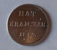 Uhry 6 Krejcar 1849 NB Ferdinand V.