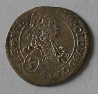 Uhry – Bratislava 3 Krejcar 1696 Leopold I.