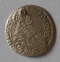 Uhry – Bratislava 3 Krejcar 1697 Leopold I. dirka