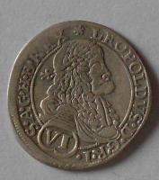Uhry – Bratislava 6 Krejcar 1676 Leopold I.