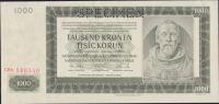 1000K/1942/, stav UNC perf. SPECIMEN, série CHb - II. vydání