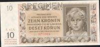 10K/1942/, stav UNC perf. SPECIMEN, série 42 A