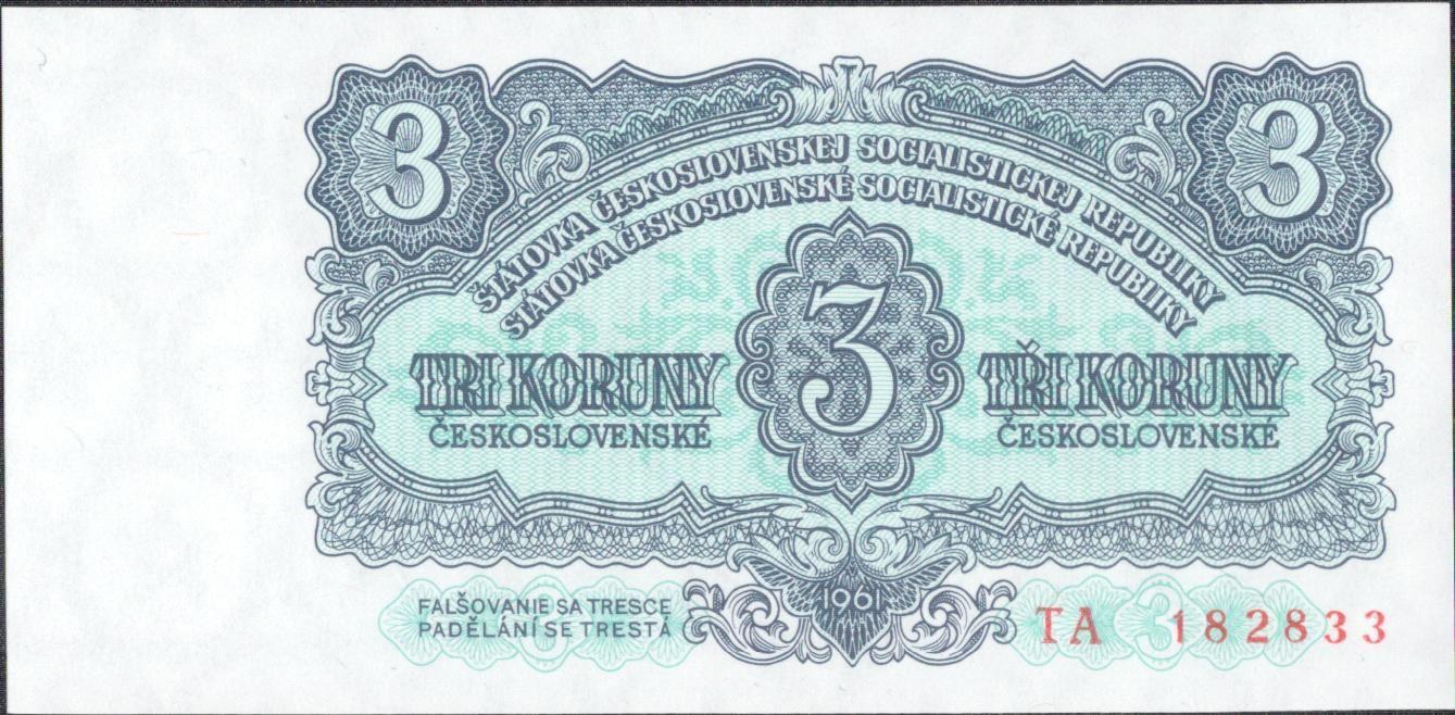 3Kčs/1961/, stav UNC