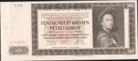 500K/1942/, stav 0 perf. SPECIMEN, série J - I. vydání