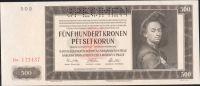500K/1942/, stav UNC perf. SPECIMEN, série Da - II. vydání
