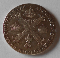 Čechy 1/2 Tolar 1797 C Křížový František II.