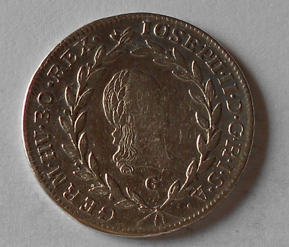 Čechy 20 Krejcar 1784 C Josef II.