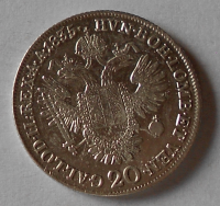 Čechy 20 Krejcar 1835 C František II.