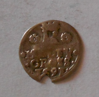 Čechy – Jáchymov Malý Groš 1591 Rudolf II.