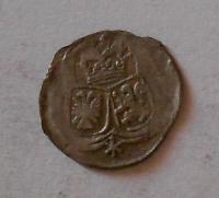Čechy – Kutná Hora 1 Krejcar 1624 Ferdinand II., znaky