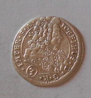 Čechy – Kutná Hora 3 Krejcar 1710 Josef I.