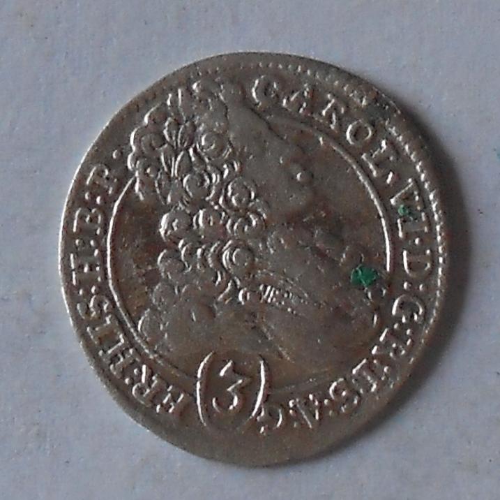 Čechy – Praha 3 Krejcar 1713 Karel VI.
