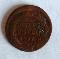 Rakousko 1/2 Soldo 1777 Marie Terezie
