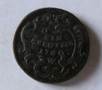 Rakousko 1 Krejcar 1760 W Marie Terezie, pěkný