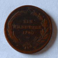 Rakousko 1 Krejcar 1780 W Marie Terezie