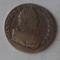 Rakousko – Antverpy 1/8 Dukaton 1751 Marie Terezie