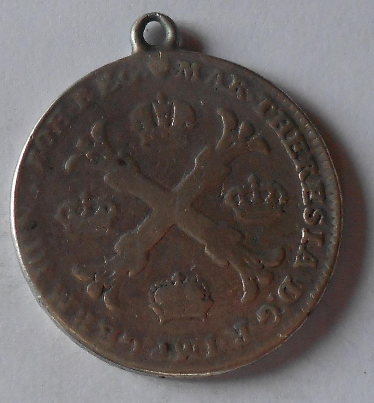 Rakousko Tolar křížový 1763 Marie Terezie, dobové ouško