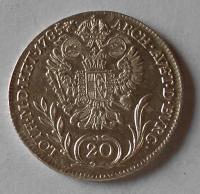 Uhry 20 Krejcar 1785 B Josef II. stav