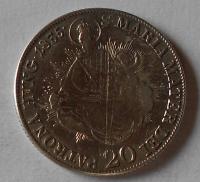 Uhry 20 Krejcar 1835 B František II. Madona