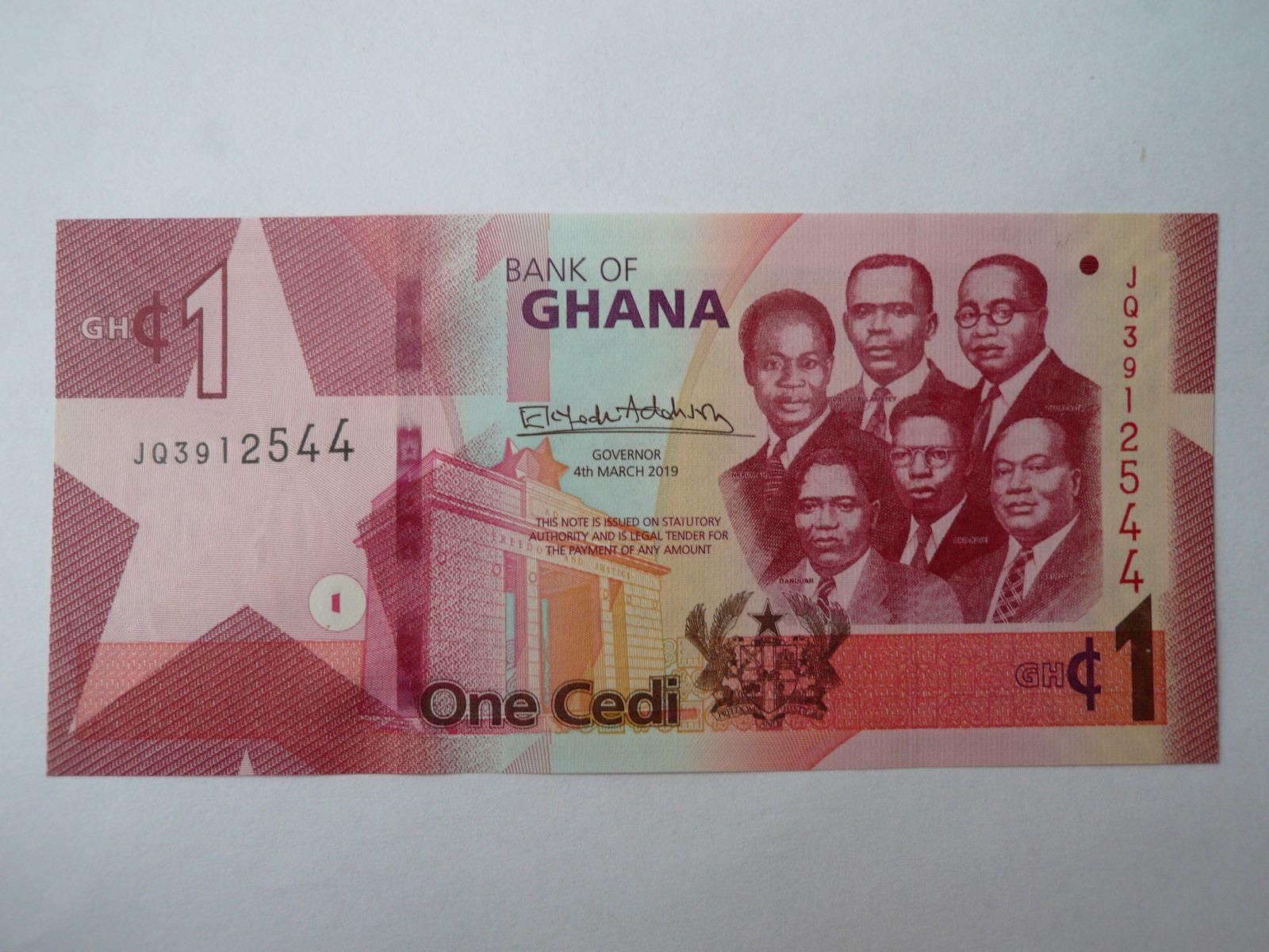 1 Cedis, 2019, Ghana