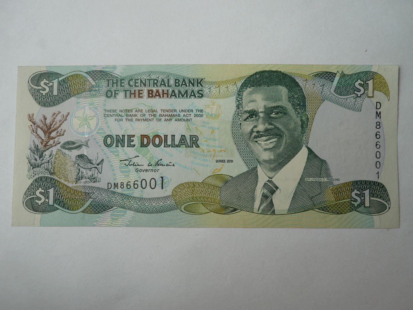 1 Dollar, 2001, Bahamy