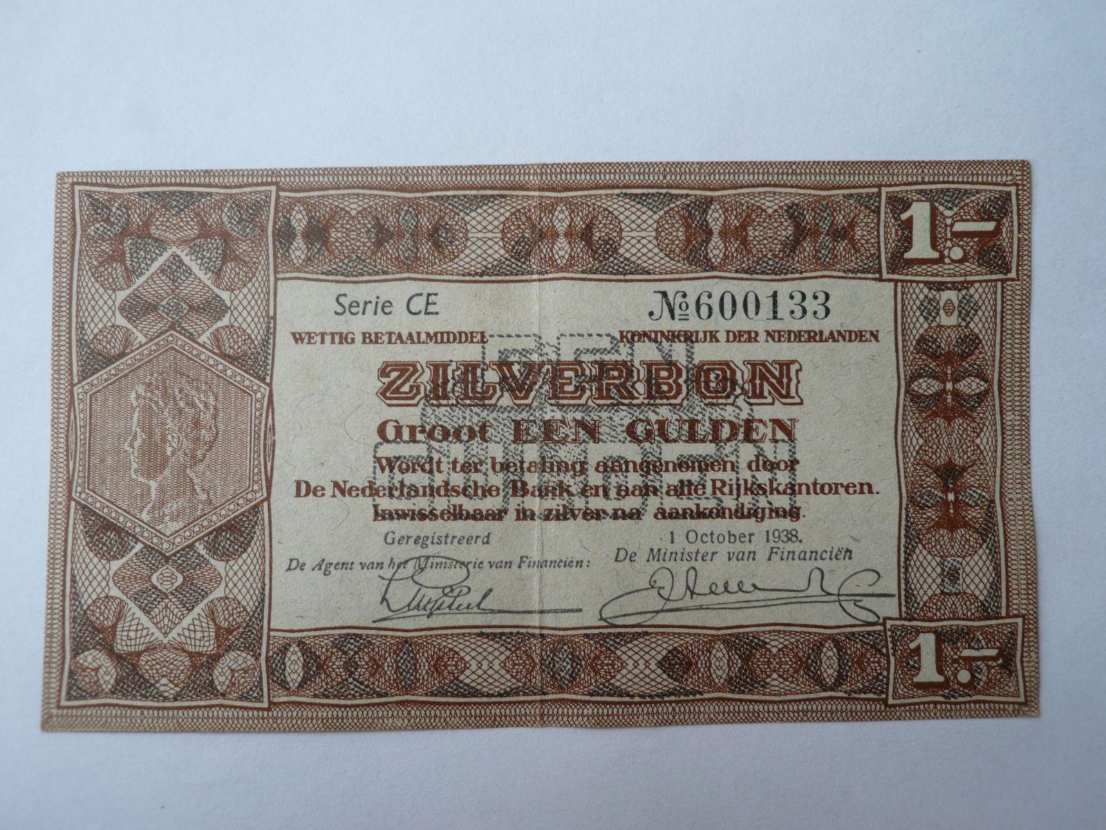 1 Gulden, 1938, Nizozemí