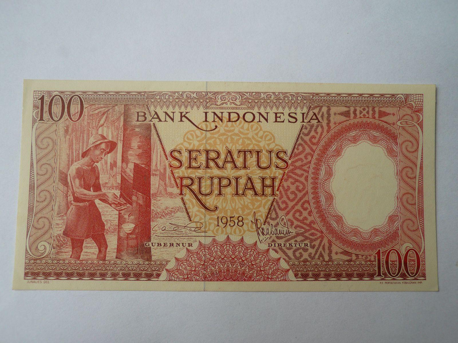 100 Rupií, 1958, Indonésie