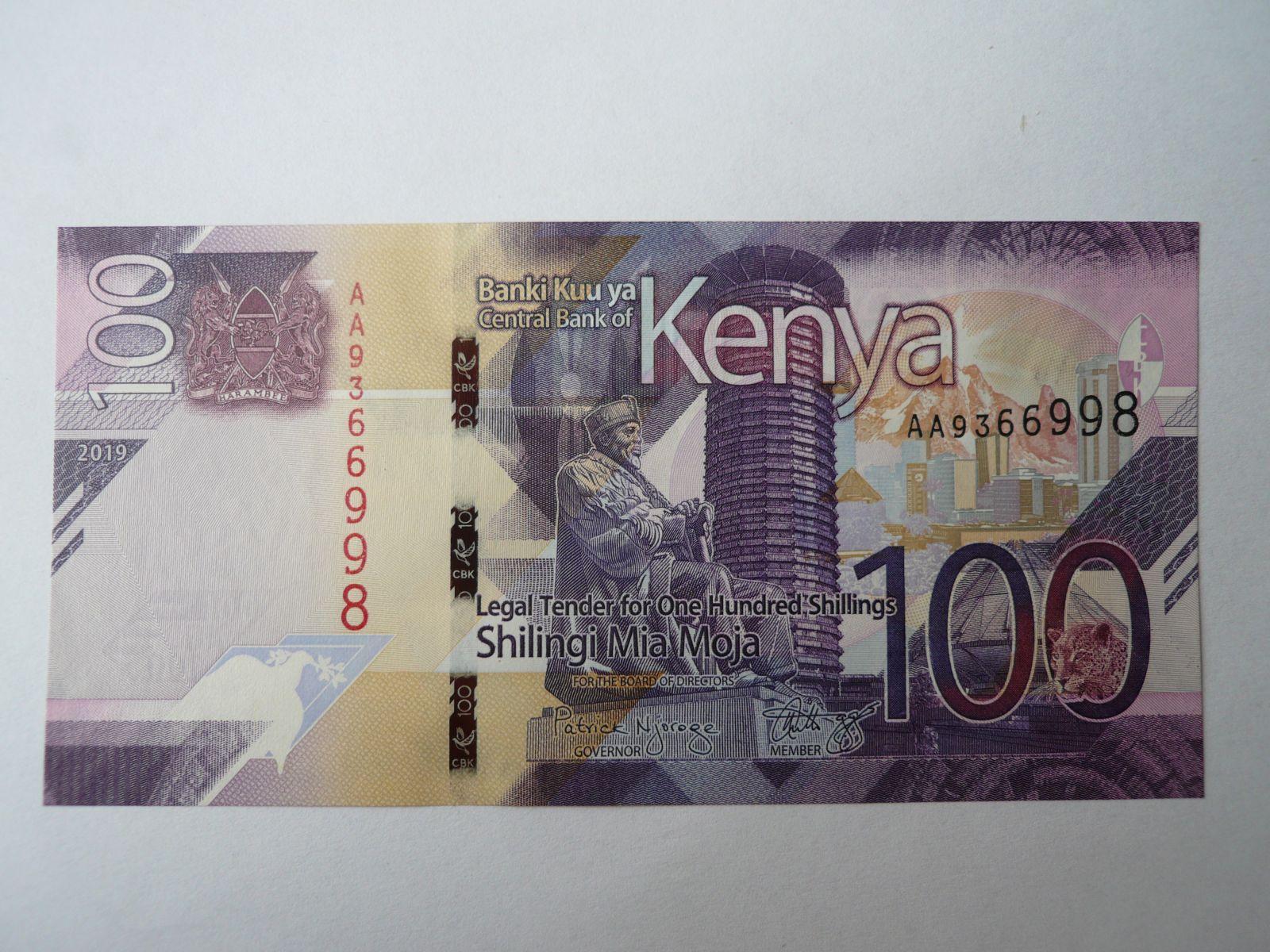 100 Schilling, 2019, Keňa