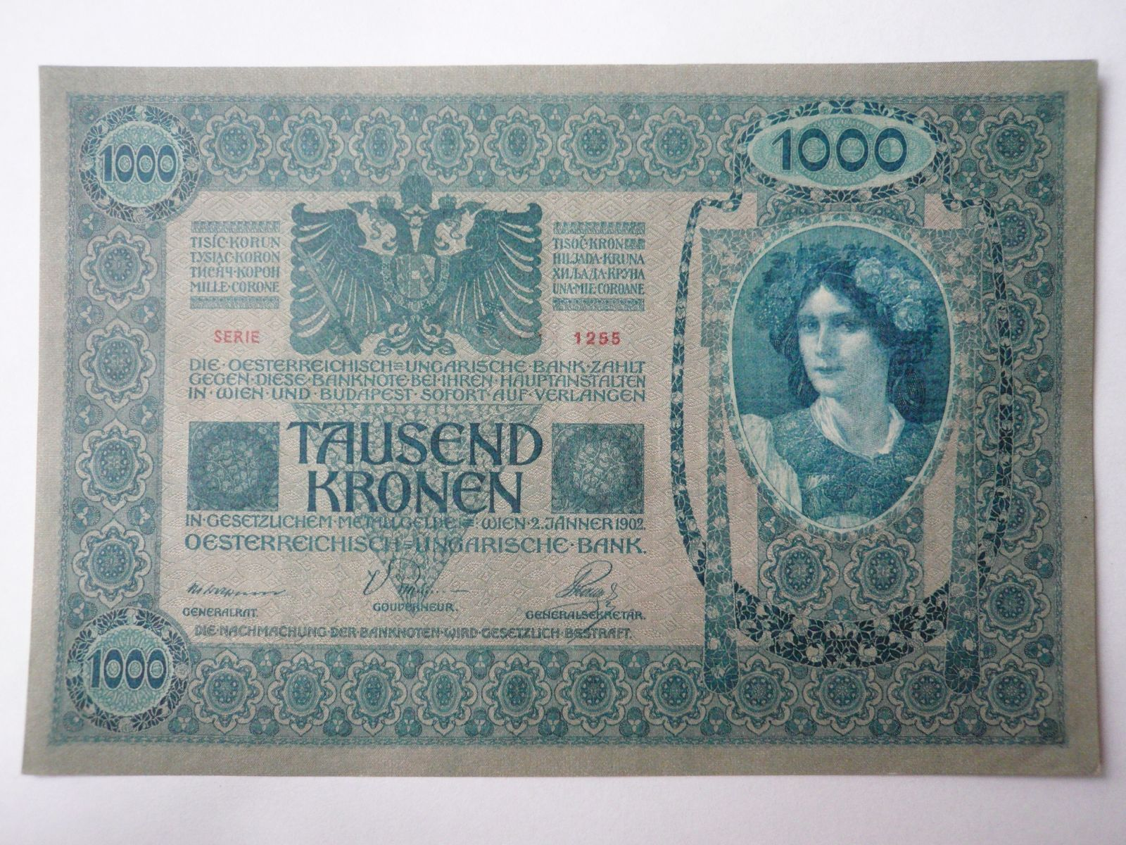 1000 Korun, 1902, S-1255, Rakousko