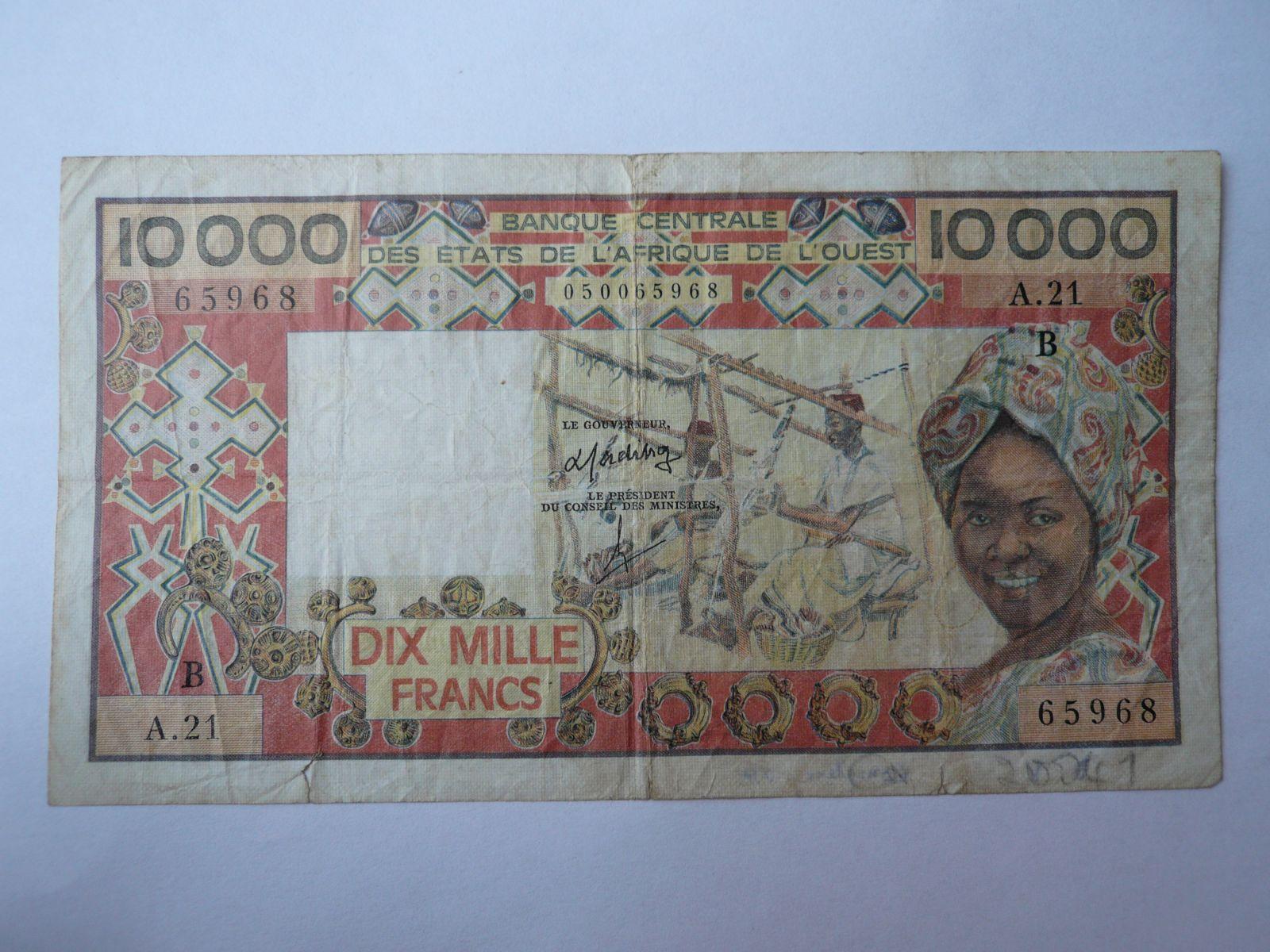 10000 Frank - přádelna, Benin