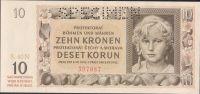 10K/1942/, stav UNC perf. SPECIMEN, série 40 N