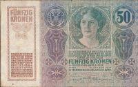 50Kč/1914-18-kolek ČSR/, stav 4+, série 1010
