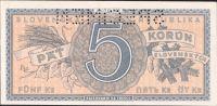 5Ks/1945/, stav 0 perf. SPECIMEN, série D 002