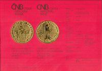 Originální certifikát k 10.000Kč 1998, Karel IV. - založení Nového Města pražského