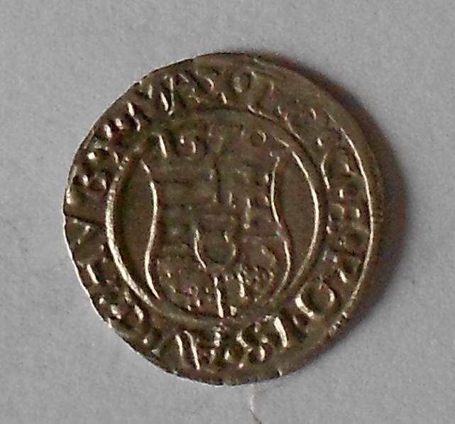 Čechy Denár 1579 KB Maxmilián II.