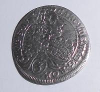 Čechy – Praha 3 Krejcar 1712 Karel VI.