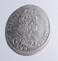 Čechy – Praha 3 Krejcar 1718 Karel VI., stav