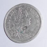 Čechy – Praha 3 Krejcar 1725 Karel VI., dirka
