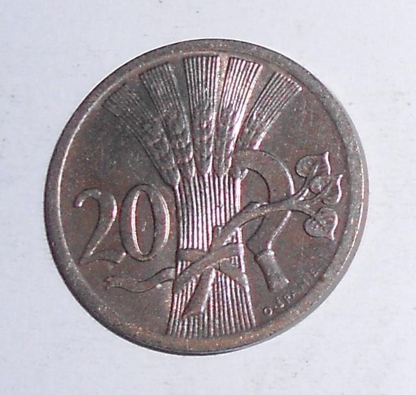 ČSR 20 Haléř 1928, stav