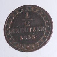 Rakousko 1/2 Krejcar 1812 A František II.