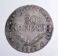 Rakousko 20 Krejcar 1809 Tyrolské povstání Andreas Hoffer