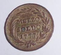 Rakousko Mezzo Soldo 1777 Marie Terezie